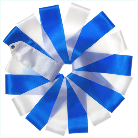 Gyakorlószalag bottal Blue-White 5m